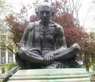 Indians  large donations to the Gandhi statue in London