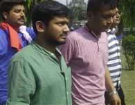 Kanhaiya shown black flag in Patna