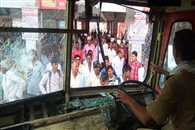 Protesters demanding separate Vidarbha state vandalize state transport buses in Yavatmal