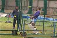 Shikhar Dhawan practice with unique style
