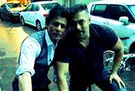 Shahrukh Khan and Salman Khan out on a bicycle ride together