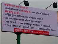 Now Billboards War began BJP, AAP government sarcasm