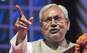 CM Nitish Kumar twitts and  took a hit  on  Modi after parivartan rally