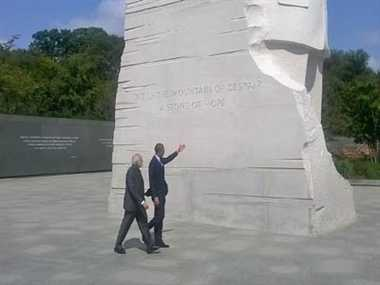 Modi and Obama went to King's Memorial