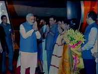 PM Narendra Modi arrives at delhi