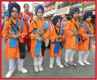 sikh people celebrated Guru Nanak prakash utsav
