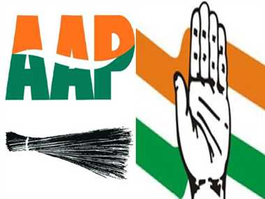bjp is concerned on aap and congress alliance