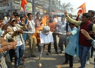 ABVP burnt effigies of Rahul Gandhi