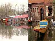 Water level of of Dal Lake increases and enters into residential areas in Srinagar