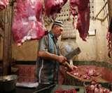 गुजरात में मांस की दुकाने चल रही है