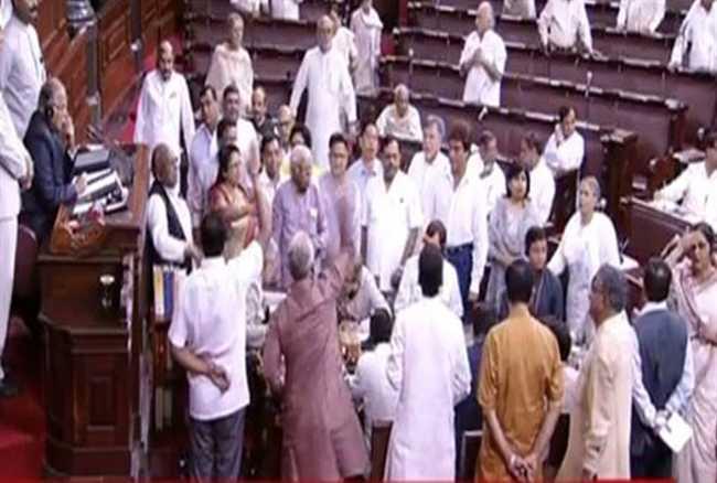 uproar in rajya sabha over agusta westland scam