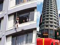 Chinese mother dangles daughter out of 13th storey hotel