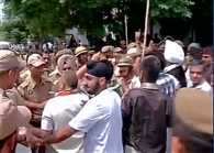 AIIMS Coordination Committee protest in Jammu, clash with police