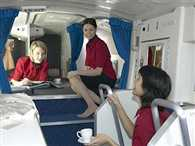 crew rest departments are often squashed into confined areas on planes
