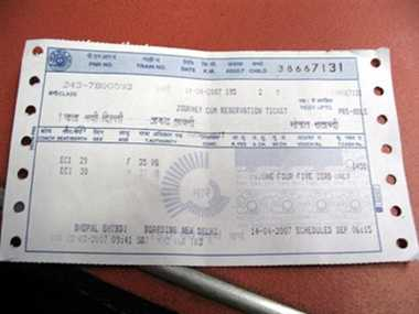 rail tickets to be checked by machine