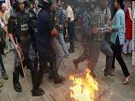 Continuing violence in Nepal, police stations burnt