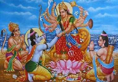 Mahaagauree met to worship Sita Ram