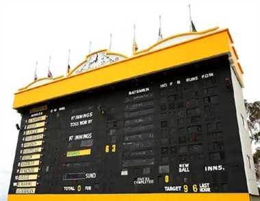 WACA scoreboard