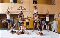 ब्रह्मचारियों ने योगासनों के उम्दा प्रदर्शन से चौंकाया