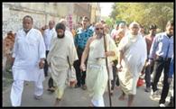 जैनाचार्य का मंगल प्रवेश, श्रद्धालुओं ने किया स्वागत