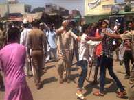 protest and Firing in shamli