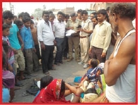 The death of a child from being hit by the truck, Hungama