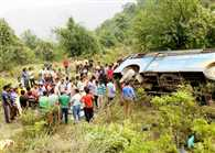 one died, thirty injured in bus accident