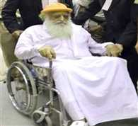 Asaram appeares in court on wheelchair