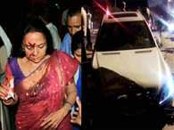 over speed case lodged against hema malini car driver
