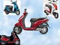 Honda Activa i TVS Jupiter Hero Maestro Mahindra Gusto Yamaha Fascino