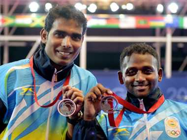 Paddlers Sharath and Amalraj lose in final, content with silver medal in CWG doubles