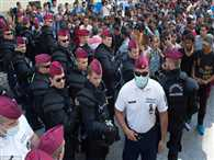 Refugees clashed with police  in Hungary