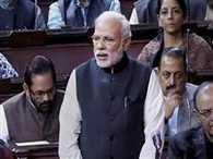 Modi lashed out at the opposition in the Rajya Sabha