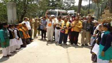 a big welcome for the  devotees kailash mansarovar