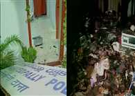 Mob attacked a police station in Secunderabad over death of a man who was in police custody