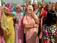 Womans of Dadri drew away media from village on second day