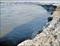 Reduction in the river, affecting the work of the Magh Mela