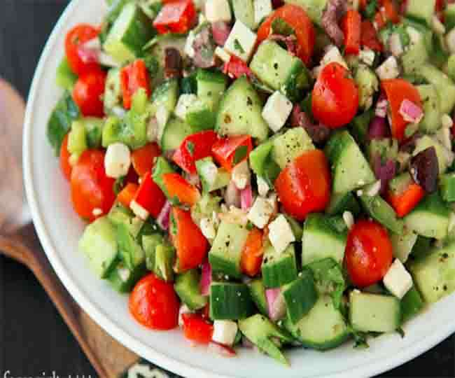 Make fruit and vegetable salad in this summer