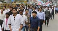 Footmarch showed doctors protest