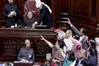 uproar in rajya sabha over agusta westland issue
