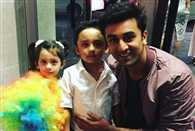 Ranbir Kapoor with Sanjay Dutt kids