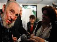 Cuba Fidel Castro Makes Rare Public Appearance