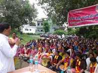 MLA Listen Problem of Anganbadi Workers