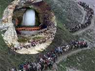 Ice lingam at the cave was made extinct