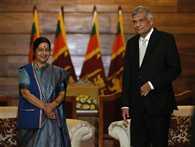 Sushma Swaraj arrives in sri Lanka on two day visit