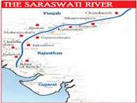 NDA government started a project for whereabout of Saraswati river