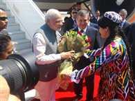 PM Narendra Modi arrives in Tashkent, Uzbekistan