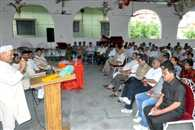 meeting administration and villagers