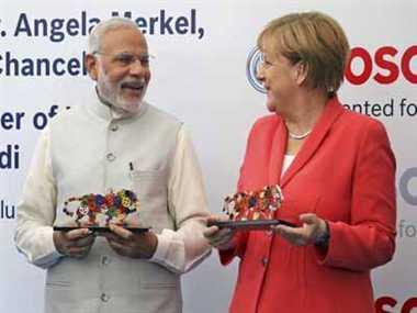 Narendra Modi ,Angela Morkel ,Banglore ,Prime Minister ,Jagran news,भारत निवेश,स्थल,व्यवस्थाः मोदी