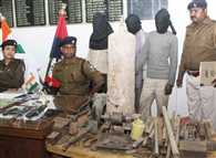 mini gun factory was governed from the hut, Police raids , many fireworks found